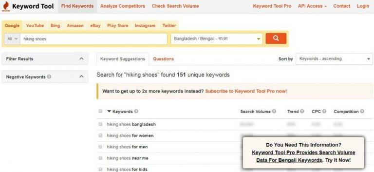 Find Long-tail Keyword